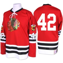 Joakim Nordstrom Mitchell and Ness Chicago Blackhawks Authentic Red 1960-61 Throwback NHL Jersey