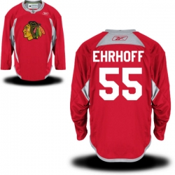 Christian Ehrhoff Reebok Chicago Blackhawks Authentic Red Practice Jersey