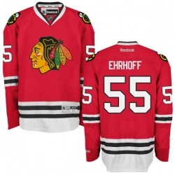 Christian Ehrhoff Youth Reebok Chicago Blackhawks Premier Red Home Jersey