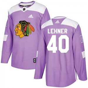 Robin Lehner Youth Adidas Chicago Blackhawks Authentic Purple Fights Cancer Practice Jersey