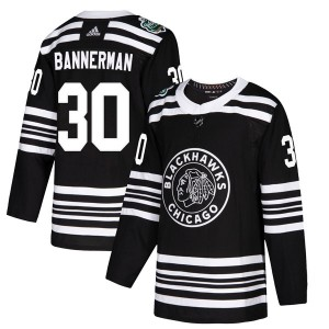 Murray Bannerman Men's Adidas Chicago Blackhawks Authentic Black 2019 Winter Classic Jersey