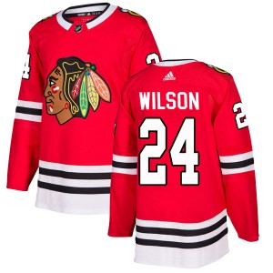 Doug Wilson Youth Adidas Chicago Blackhawks Authentic Red Home Jersey